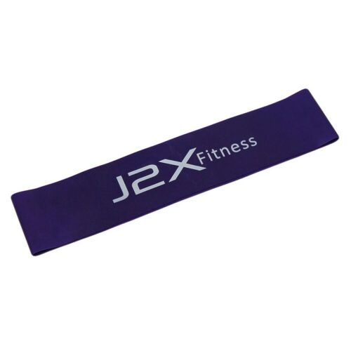 J2X Fitness Latex Resistance Loop Exercise Lateral Resistor Leg Band Ring Cro...