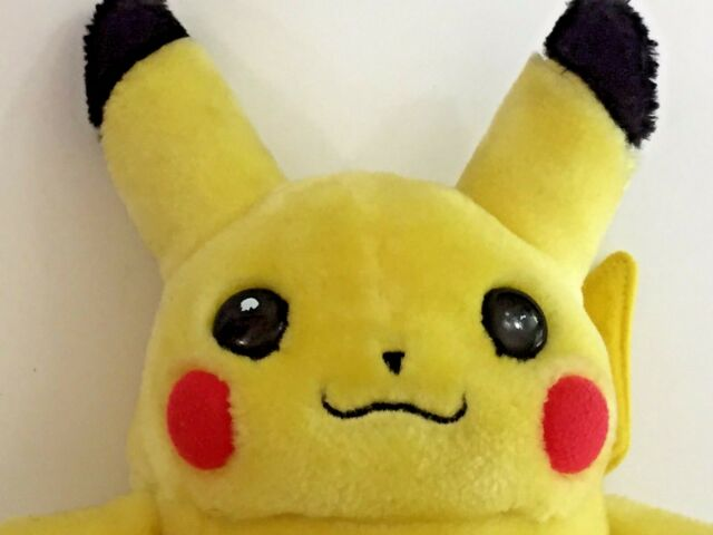 Pikachu Plush Nintendo Pokemon Vintage 90s 8 Inches Tall Stuffed Toy