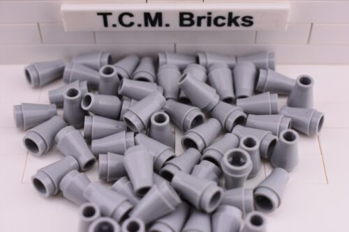 TCM Compatible Bricks Light Bluish Gray Cone 1x1 WITHOUT Top Groove QTY 100