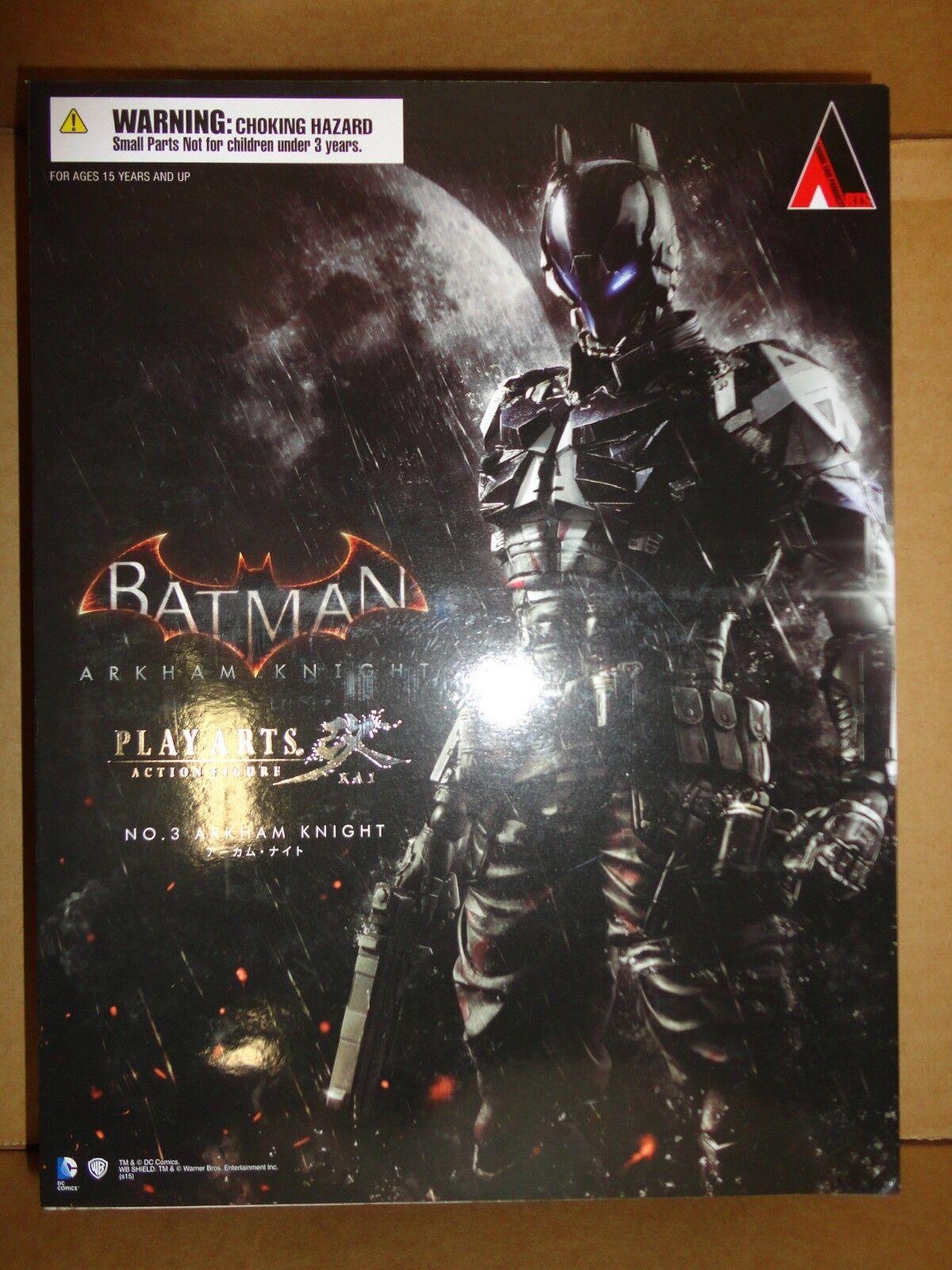 Square Enix Play Arts Kai DC Batuomo Arkham Knight No.3 Pre-owned Very Gd Cond.