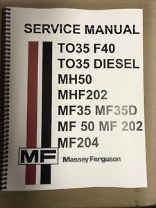 Astonishing F40 Ferguson Tractor Technical Service Shop Repair Manual Massey F Wiring Digital Resources Attrlexorcompassionincorg