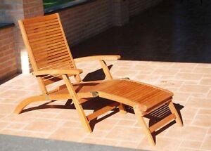 Sedie sdraio esterno giardino legno esterni poltrone sedia - Sedie giardino esterni ...