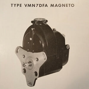 Details about 1951 Bendix Scintilla Magneto VMN7DFA Parts Booklet