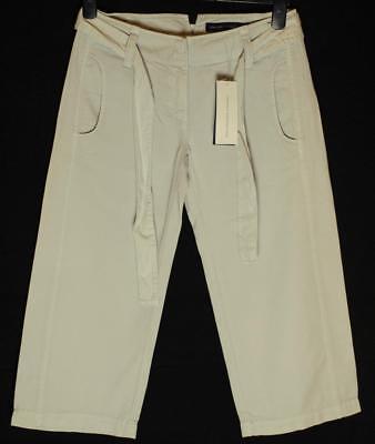 Bnwt Women's French Connection 3/4 Trousers Shorts + Belt Rrp£50 New Lunar Grey Zu Hohes Ansehen Zu Hause Und Im Ausland GenießEn