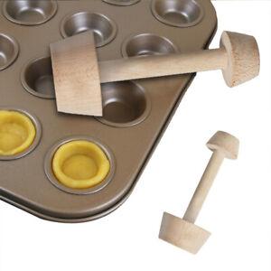 Side Baking Supplies Kitchen Pastry Pusher Wooden Cake Tools Egg Tart Tamper