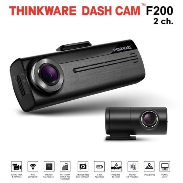 Thinkware F200 Front Dash Cam With Impact G Sensor Wifi 1080p PLUG /& PLAY