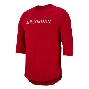 6630a6a7a4d8 Nike Jordan JSW Wings 3 4 Raglan AA1911-687 Men s Top Gym Red White ...