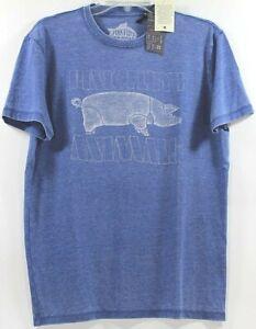 Lucky-Brand-Pink-Floyd-Animals-Pig-Federal-Blue-T-Shirt-Choose-Size