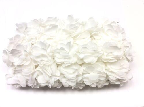 1 MT Passamaneria Floreale bianca cerimonia