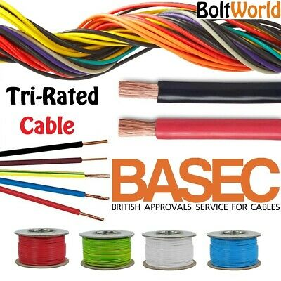 100 AMP TRI RATED BLACK CABLE Per Mtr 16mm SWITCHGEAR CABLE PANEL WIRING CABLE