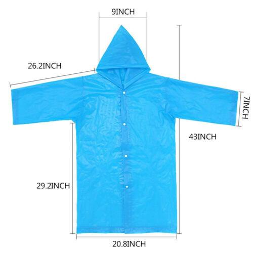 Baby Kids children Rainwear Waterproof Hooded Rain Coat Outwear Poncho Raincoat