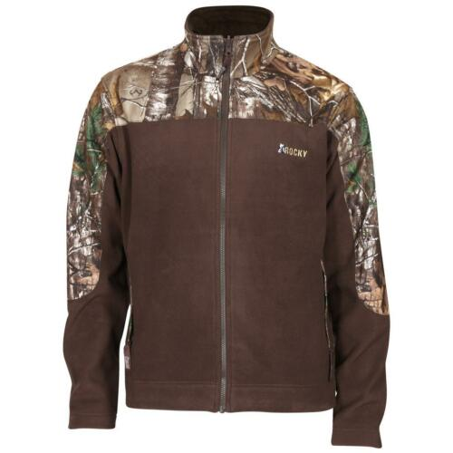 Rocky Mens Fleece Jacket Realtree XtraBrown Size XLarge
