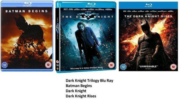 The Dark Knight Trilogy Blu ray Original New UK Batman Begins Rises Sealed New