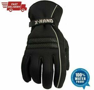 Black-Motorbike-Motorcycle-Leather-Gloves-Waterproof-Protection