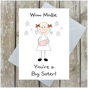 New Big Sister Card Personalised