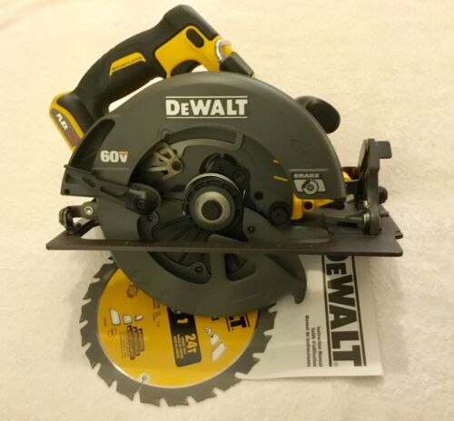 "New Dewalt DCS575B Flexvolt 60 Volt Max 7-1//4"" Brushless Circular Saw W// Blade"