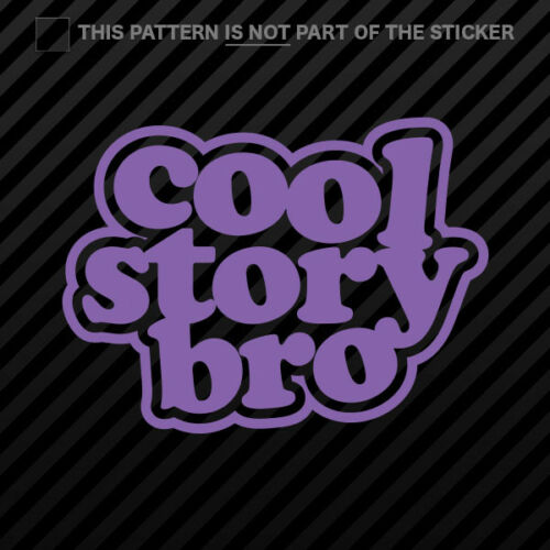 Cool Story Bro Sticker Self Adhesive Vinyl ver 2 JDM 2x