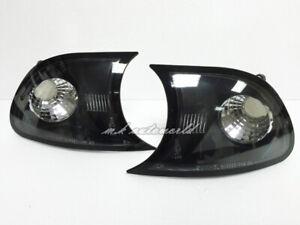 E-MARK Crystal Corner Lights BLACK for BMW E46 1999-2000 Coupe Convertible