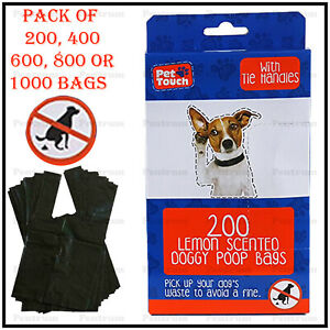 Pet-Touch-Dog-Poo-Premium-Lemon-Scented-Poop-Bags-Extra-Strong-Tie-Handles-Tidy