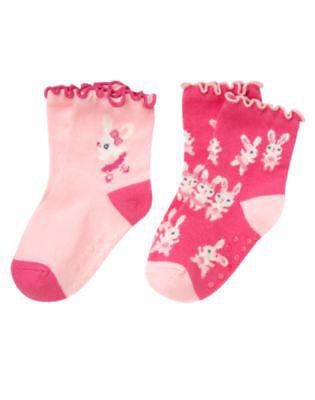 NWT Gymboree Girls Cotton Blend Socks 2-Pack Two-Pack 2pk NEW 2-pk Set NEW