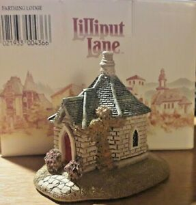 Collectable-Lilliput-Lane-034-Farthing-Lodge-034-Lincolnshire-Small-Boxed-No-Deeds