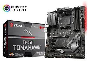 MSI-B450-TOMAHAWK-Desktop-Motherboard-AMD-B450-Chipset-Socket-AM4