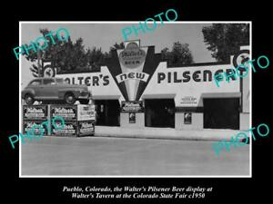 OLD-LARGE-HISTORIC-PHOTO-OF-PUEBLO-COLORADO-THE-WALTER-BREWERY-TAVERN-c1950