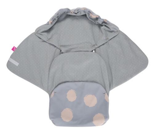 Einschlagdecke für Babyschale Kinderwagen Buggy Auto Maxi Cosi Fußsack Softshell