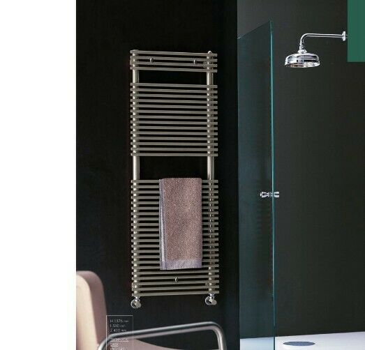 MADE IN ITALY DESIGNER CHROME HEATED TOWEL RAIL 80% OFF