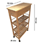 4-Tier-Slim-Portable-Natural-Bamboo-Wood-Kitchen-Trolley-Organiser-Cart-Wheels miniatuur 5