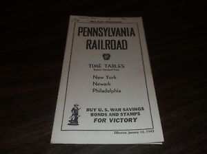 JANUARY-1943-PRR-PENNSYLVANIA-RAILROAD-FORM-5-NEW-YORK-TO-PHILADELPHIA