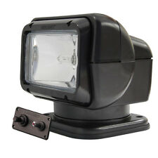Golight Searchlight Spotlight w/Permanent Wired Dash Mount Remote Control Black
