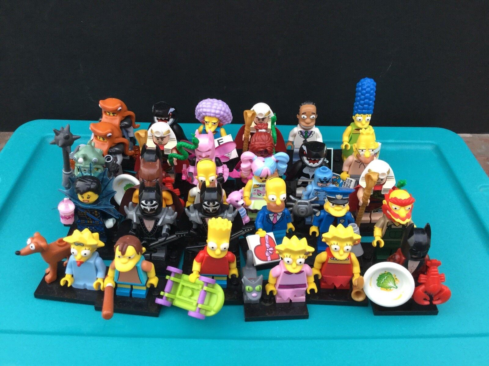 Lego minifigures serie Lote De 32 Simpson Serie 1 2 Batman Ninjago 71005 71007