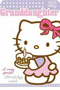 Hello kitty birthday card for granddaughter daughter children image is loading hello kitty birthday card for granddaughter daughter children bookmarktalkfo Gallery