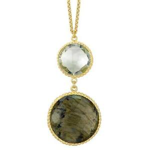 New silver 925 18k gold plated labradorite green amethyst image is loading new silver 925 amp 18k gold plated labradorite aloadofball Image collections