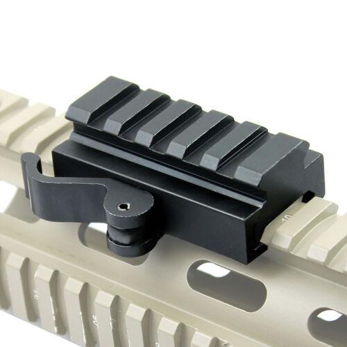 "Quick Release Half Inch .5/"" Low Profile Riser QR Block Mount for Picatinny Rail"