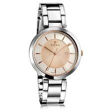 Titan Analog Steel Rose Gold Watch for Women 2480KM01