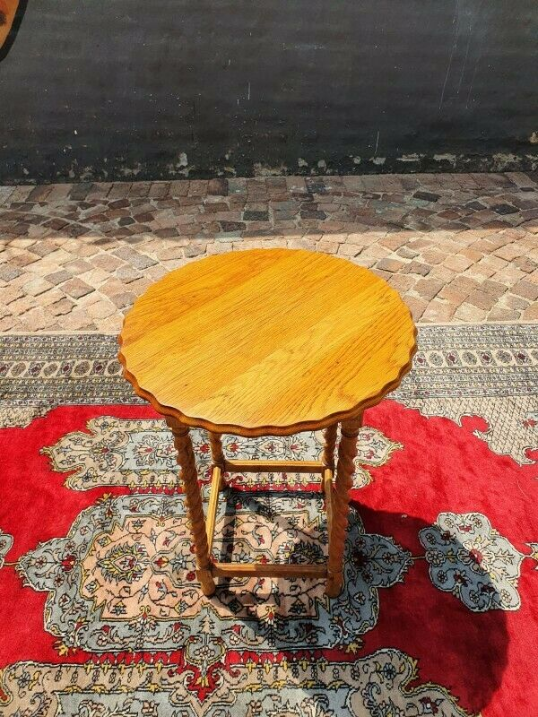Antique Solid oak barley twist occasional table
