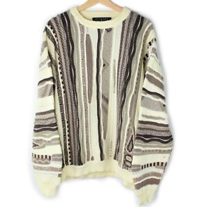 Vintage-Protege-Collection-3d-Pullover-Biggie-Bill-Cosby-Texturiert-Coogie-Style-wie