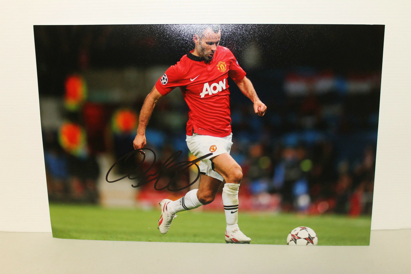 RYAN GIGGS HAND SIGNED 8x12 PHOTOGRAPH UNFRAMED + PHOTO PROOF & C.O.A