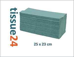 10000 Z-Falz Papierhandtücher Falthandtücher 25x23cm GRÜN / nassfest Zick Zack