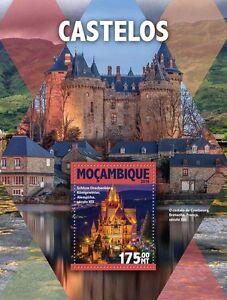 Mozambique 2016 MNH Castles 1v S/S Schloss Drachenburg Architecture Stamps