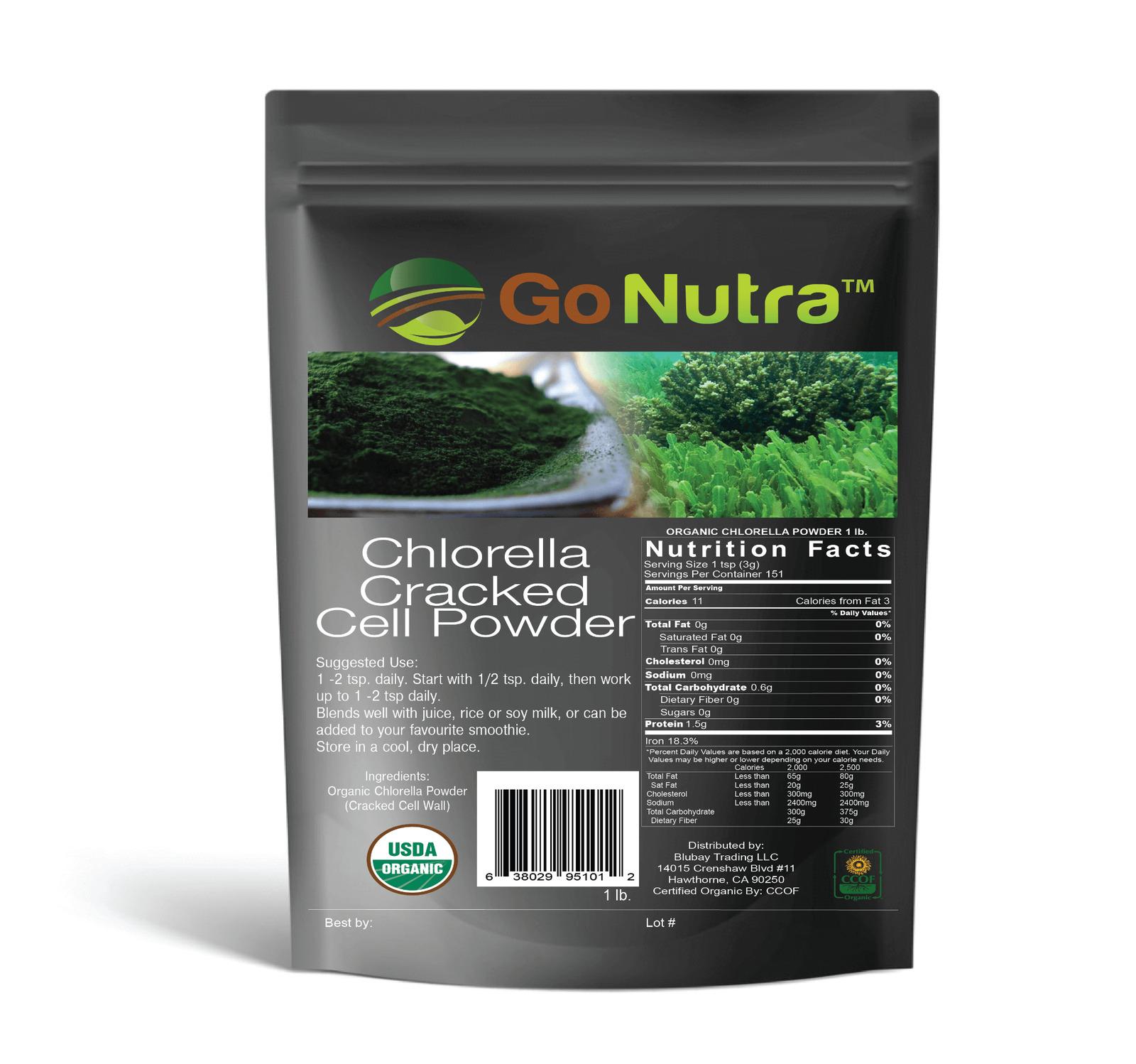 Chlorella Cracked Cell Powder 100% Pure Organic Non-Gmo Wholesale 1 lb