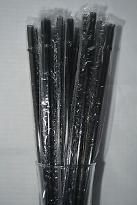 """Blue Solid Clear Acrylic Plastic Party Straws with Rings Reusable 9/"""" BPA Free"""