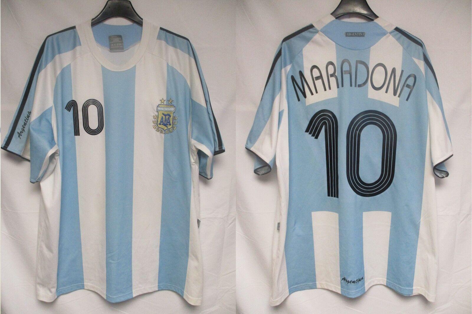 Maillot silverINE silverINA MARADONA vintage shirt trikot jersey camiseta XL