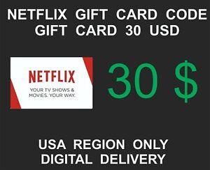 Netflix-Prepaid-Gift-Card-Key-Service-USA-Region-Only-30-USD-Credit