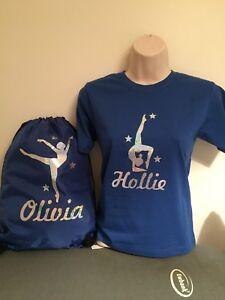Le-ragazze-Glitter-personalizzati-stampa-Danza-Ginnastica-T-Shirt-4-Design-eta-2-13