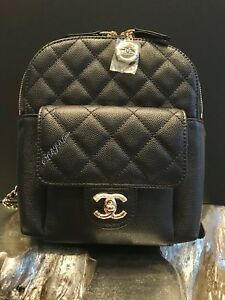 06c395e496 Details about NWT CHANEL BLACK CAVIAR BACKPACK GOLD MINI SMALL NEW TRAVEL  CLASSIC FLAP POCKET