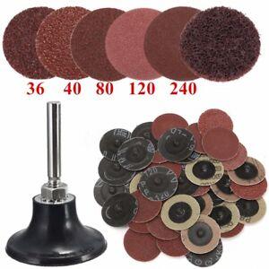 2-034-Grit-36-40-80-120-240-Sanding-Discs-Paper-Sand-Tray-Polish-Backing-Pad-Shank