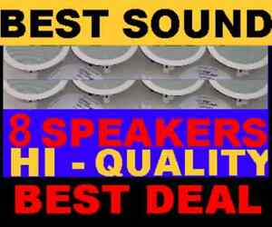 8-PACK-CEILING-IN-WALL-8-034-HI-QUALITY-SPEAKERS